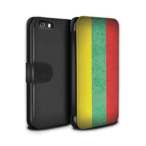 STUFF4 PU-Leder Hülle/Case/Tasche/Cover für Apple iPhone 7 / Mazedonien/Mazedonisch Muster / Europa Flagge Kollektion Litauen/Litauisch