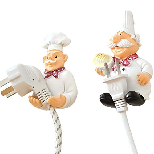 ff75c8b1832ad SUPERSELLER Power Plug Hook,Mobile Power Plug Hook Cook Fat Chef Wall Decor  Organiser Cable Holder, Wall Hook for Home, Kitchen, Garden, Tools, Garage  ...