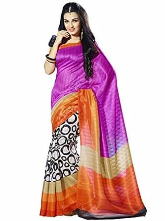 Vipul Assam Silk Pink Saree (10058)
