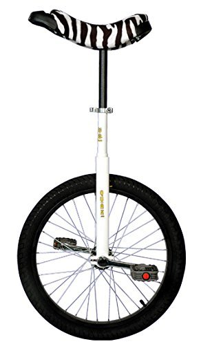 Qu-ax Einrad LUXUS 20 Zoll Radgröße in allen Farben, Farbe:weiß