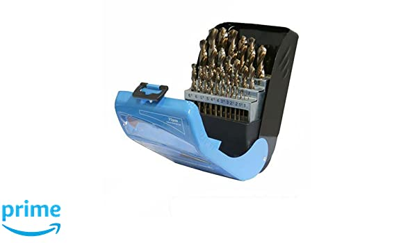 Silverline 783089 Kobaltbohrer Set Cobalt Drill Set Bit 1-13mm 25-teilig