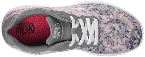 Skechers Go Run 400-Velocity, Scarpe Running Donna Rosa (Gry/lt.pnk)