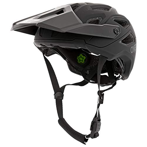 Oneal Pike 2.0 IPX Helmet Solid Black/Gray S/M (55-58 cm) Casco Moto MX-Motocross, Adulti Unisex