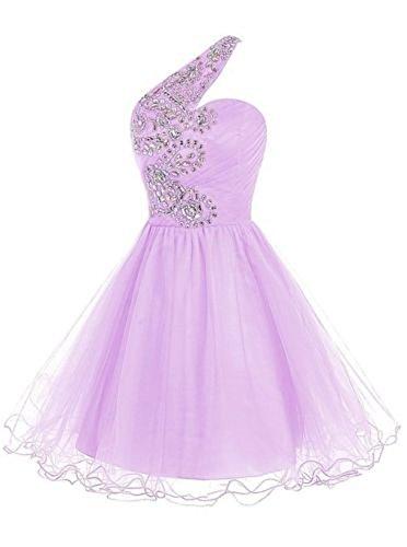 Drasawee Damen A-Linie Kleid Lavendel