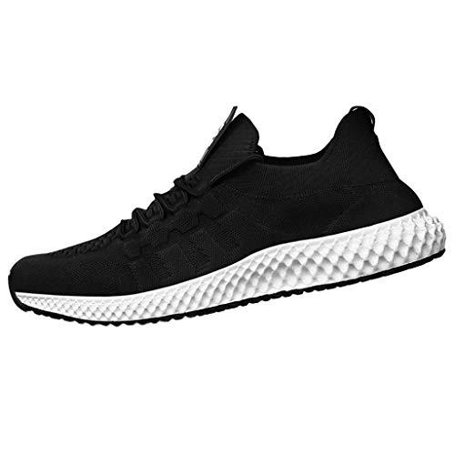 REALIKE Herren Sneaker Laufschuhe Sommer Einfarbig Lace Up Slip On Atmungsaktiv Gym Turnschuhe Leichtgewicht Trainer Outdoor Shoes Straßenlaufschuhe Running Fitness Schuhe EU 39-46