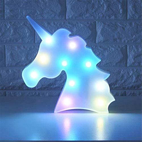 QiXian Lumière de Nuit Licorne Tir Décoratif Lumières Accessoires Lampe de Table Mignon Chambre d'enfant Style Rêve Tenture Murale LED Veilleuse