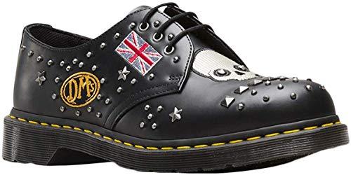 Dr.Martens Unisex 1461 Rockabilly Smooth Leather Black Zapatos 44 EU
