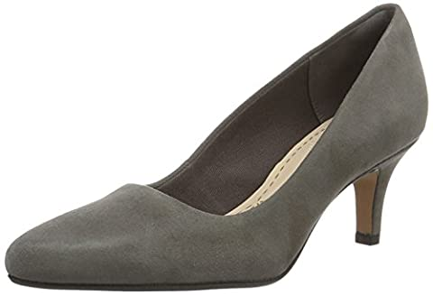 Clarks Women's Isidora Faye Closed-Toe Pumps, Grey (Dark Grey Sde),