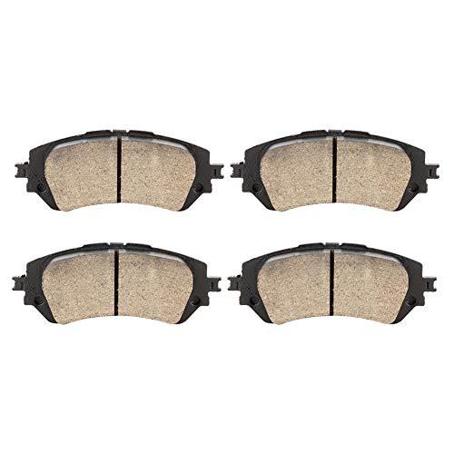 Duokon 2 pezzi pastiglie freno anteriore in ceramica per auto, pastiglie freno per auto set pastiglie freno D2343 per Yaris (13 ~) / Vios (13 ~)