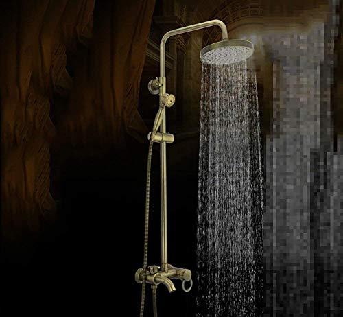 ZYL-YL Regen Brausegarnitur Wandbrausehalter for antike goldene Messing-Bad, Dusche mit Wandhalterung for Schwalldusche for Wannenbatterie mit Wasserfall