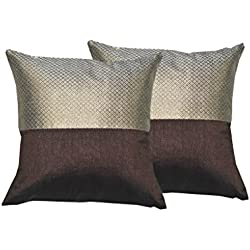 Durable Dupian Silk Embroidery plain printed Decorative Square Throw Pillow Cover Cushion Case Sofa Chair car Seat Pillowcase 12 X 12 Inches 30cm x 30cm set of 2