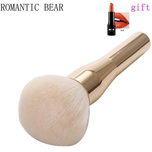 ROMANTIC BEAR Maquillage pinceau Fondation sommet plat Face a pinceau de maquillage poudre libre