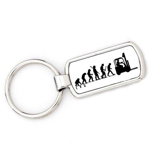 Preisvergleich Produktbild Affe auf Gabelstapler Evolution Schlüsselanhänger key ring