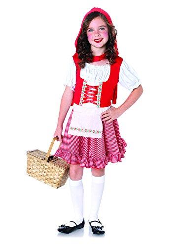 Rotkäppchen Kostüm Set, Größe S, rot/weiß (Leg Avenue Kapuzen Kostüme)