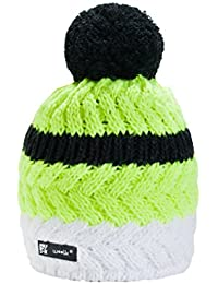Unisex Winter Cappello Invernale Di Lana Berretto Uomo Donna Beanie Hat Sci Snowboard Di Moda MFAZ Morefaz Ltd (Black Lime)