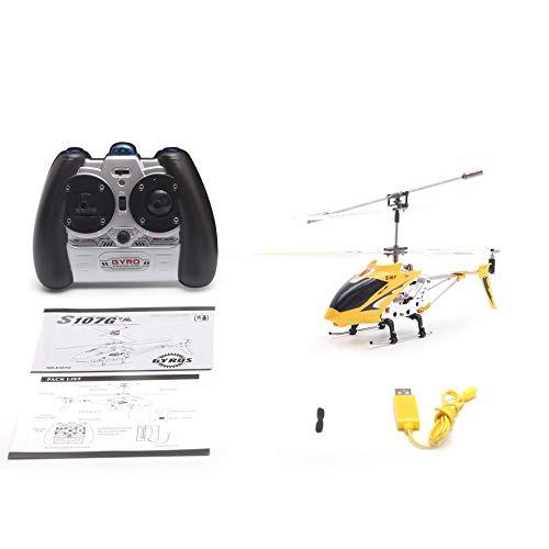 Syma S107G Gyro Metall Infrarot 3CH RC Drone Mini Hubschrauber Spielzeug Geschenk RTF Gelb
