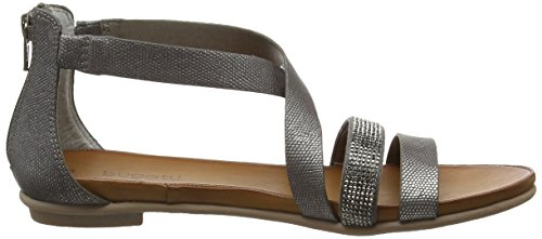 Bugatti - W59726n, Scarpe col tacco con cinturino a T Donna Argento (Silber (altsilber 801))