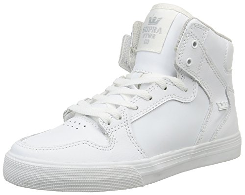 Supra - Vaider, Sneakers, unisex, Bianco (Blanc (White/White)), 36