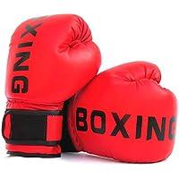 FUMEI Guantes de Boxeo para Niños para Sparring, Saco de Boxeo, Muay Thai y Kick Boxing, MMA, 6oz (Rojo-02)