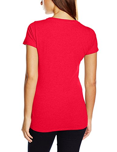 Tommy Hilfiger Cotton Cn Tee Ss Iconic - T-shirt - Femme Rouge (Tango Red-pt)