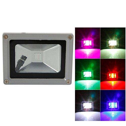 SDDMALL Dimmable RGB 10W integrieren LED 700-950LM (AC 85-265V) Warmes weißes kaltes weißes wasserdichtes Grad IP65 LED Flutlicht