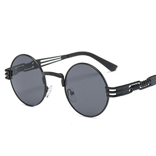 Oksale Men Womens Vintage Retro Round Glasses Aviator Sunglasses Fashion Sunglasses Travel Sunglasses (B