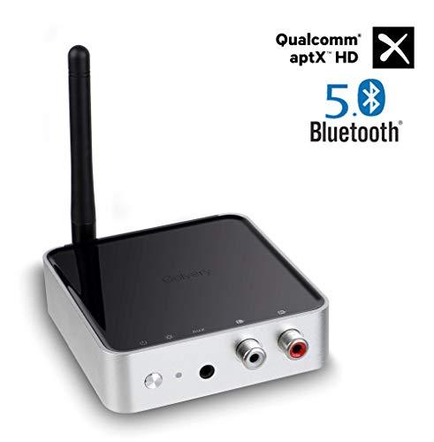 Golvery Bluetooth 5.0 Sender Empfänger, 328ft Long Range Bluetooth Adapter für TV Home HiFi Stereo System, optische TOSLINK & 3.5mm AUX, Unterstützung aptX HD & Low Latency, Dual Stream