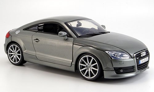 Audi TT Coupe, metallic-grau, 2007, Modellauto, Fertigmodell, Motormax 1:18