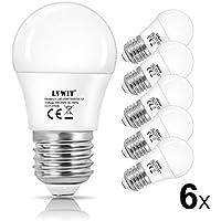 [Sponsorizzato]LVWIT LED Lampadina Sfera G45 E27 Globo Lampadina 2700K Bianco Caldo Smerigliato 350Lm 4.5W Equivalente a 40W Non-dimmerabile 6-Pack