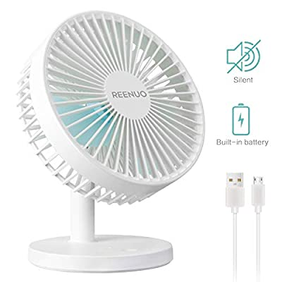 Reenuo Mini USB Desktop Fan, Portble Small Silent Desk Fan for Home,Office,Bedroom,Dorm,Study