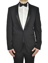 Michaelax-Fashion-Trade - Veste de smoking - Uni - Manches Longues - Homme