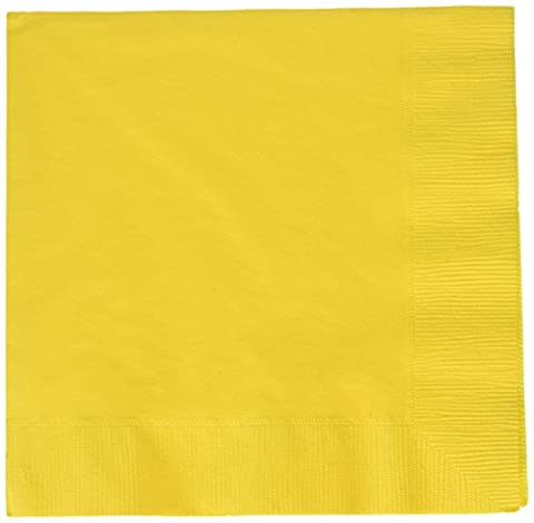 Amscan International Luncheon Napkins Sunshine Yellow, Pack of 50