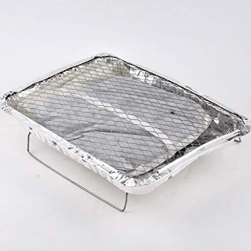 KKNUI Outdoor Einweg Ofen Tragbare Grill/Grill Tablett Mit Röstkohle Ist Für 1,5 Stunden (mit Backpapier) leicht Zu Brennen