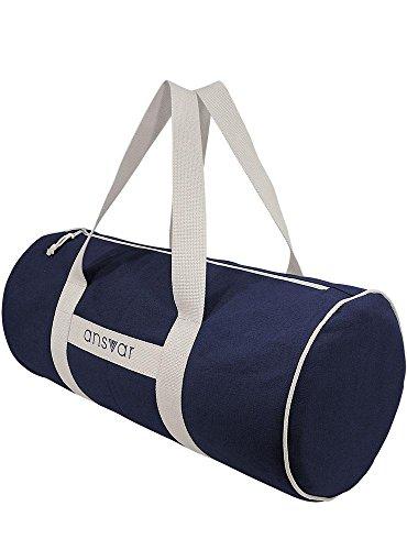Sporttasche ansvar III aus Bio Baumwoll Canvas - Hochwertige Damen & Herren Sporttasche, Duffle Bag aus 100% nachhaltigen Materialien - mit GOTS & Fairtrade Zertifizierung, Farbe:blau - 6