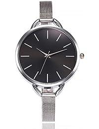 Relojes de Pulsera de Cuarzo Casual con Reloj de Banda de Acero Inoxidable por ESAILQ