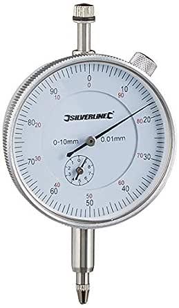 Silverline 196521 Präzisions Messuhr Metrisch 0 10 Mm Gewerbe Industrie Wissenschaft