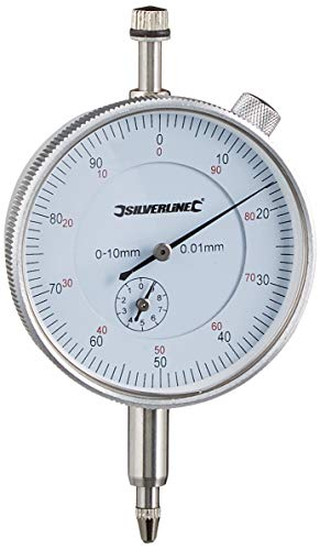 Silverline 196521 Metric Dial Indicator, 0-10 mm