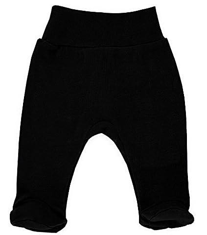 MAKOMA Baby Jungen Babyhose Stramplerhose -08129 Black-