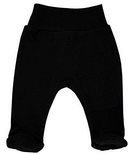 MAKOMA Baby Jungen Babyhose Stramplerhose -08129 Black- (56) (Kleinkinder Oma Hose)