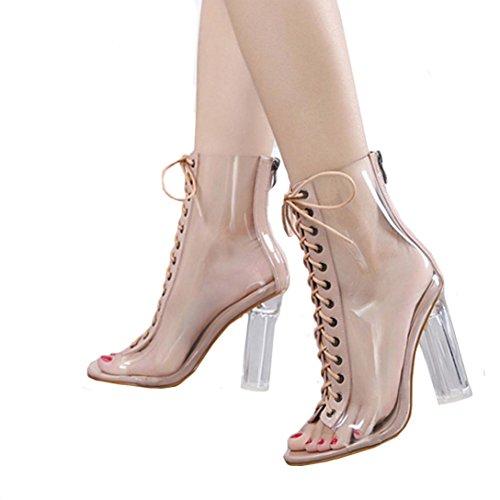 d0b729d57ef16c 8. Malloom® Römische Schnalle Schuhe Frauen Sandalen Sexy Sandalen High  Heels Frau Stiefeletten Römersandalen mit Hohen Absätzen (37