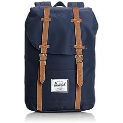 Herschel Retreat Backpack - Mochila casual unisex, Azul (Navy), 23 L