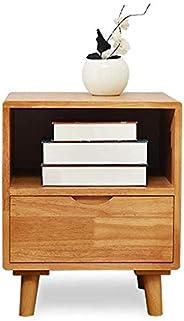 طاولات النوم الخشبية المجمعة بالكامل من الأثاث لغرفة النوم وجانب السرير من الخشب الصلب (اللون: لون خشبي)، اللو