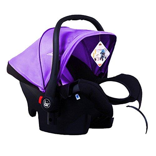 WANG Siège De Sécurité Multifonctions Chariots Voiture Coaxial Sommeil Artefact 65 * 37 * 39 Cm,Purple