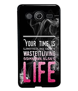 Fuson Designer Back Case Cover for Samsung Galaxy Core I8260 :: Samsung Galaxy Core Duos I8262 (Life Is Limited Men Women Couples Enjoy)