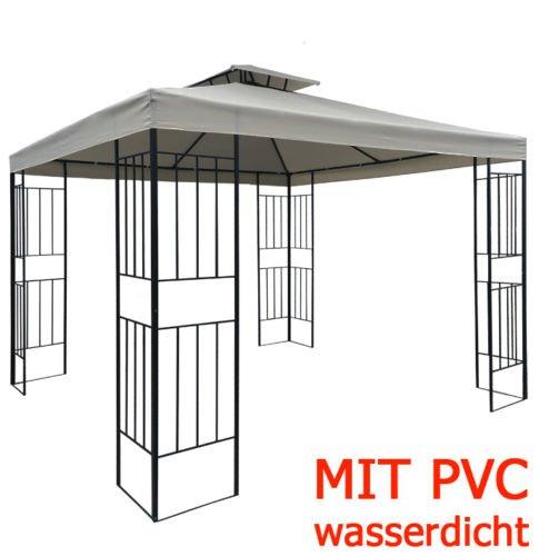 WASSERDICHTER Pavillon Borneo 3x3m Metall inkl. Dach Festzelt wasserfest Partyzelt (Terrakotta)
