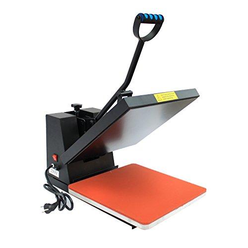 Homcom® Transferpresse Textilpresse T-Shirtpresse Textildruck Schwenkbar 38x38cm