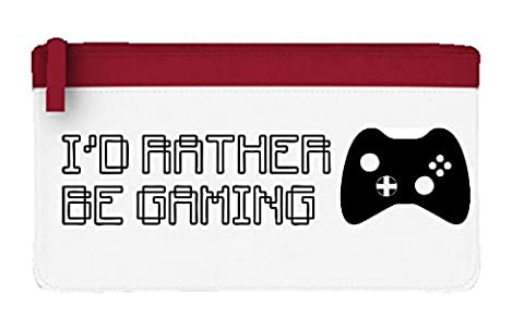 I D Rather Be Boutons de jeu Manette Console Gamer Gaming Statement Trousse plate taille unique Red
