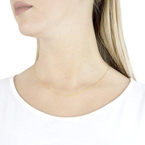 Carissima Gold - Chaîne - 375/1000 - Or bi colore - Femme Or Jaune