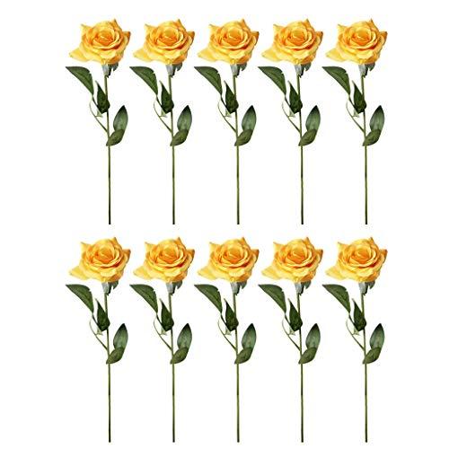 LOLIANNI Hauptdekor-künstlicher 10pc Rose Real Bridal Wedding Bouquet Bunte hübsche gefälschte Blume - Cap Bridal Sleeves