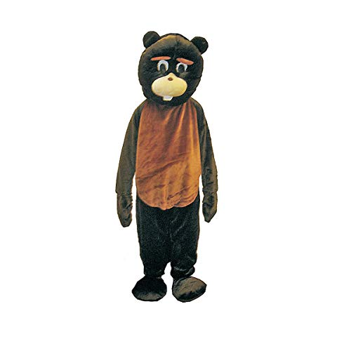 Biber Kostüm Für Erwachsene - Biber Maskottchen Kostüm Set von dress up Amerika (Adult)